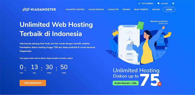 cara membuat website toko online menacri hosting