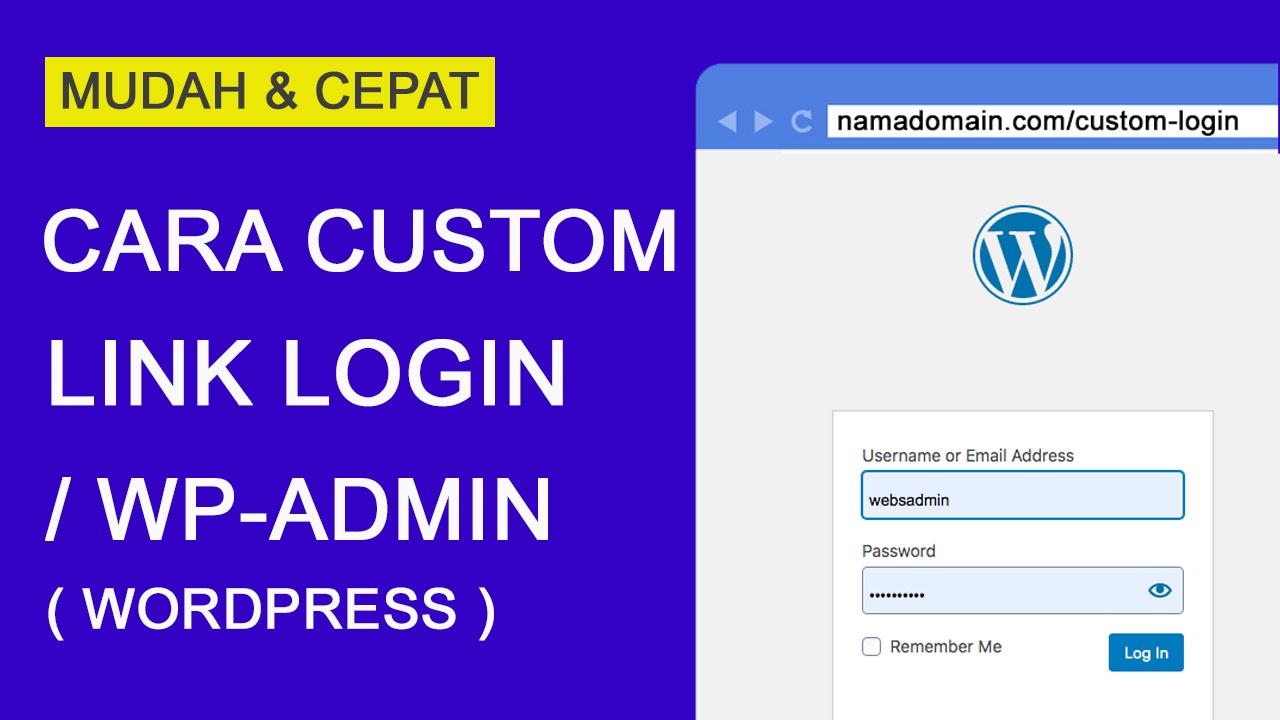 Cara Merubah Link Login /WP-admin di WordPress